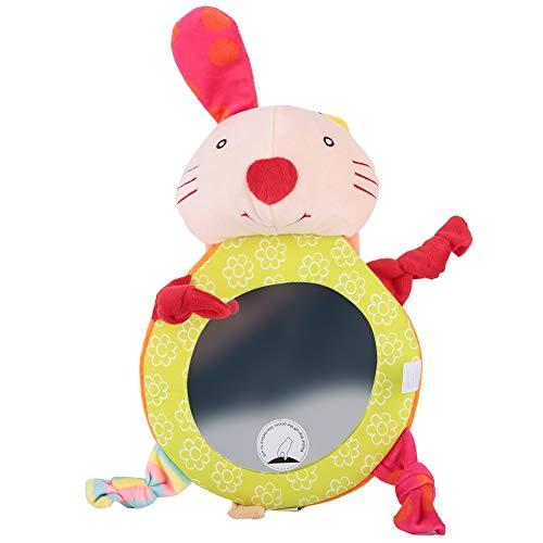 Babysicherheitsrückspiegel Kleinkind Niedliche Cartoon Tier Rücksitz Auto Rückspiegel Verstellbar und einfach zu installieren(Hase)