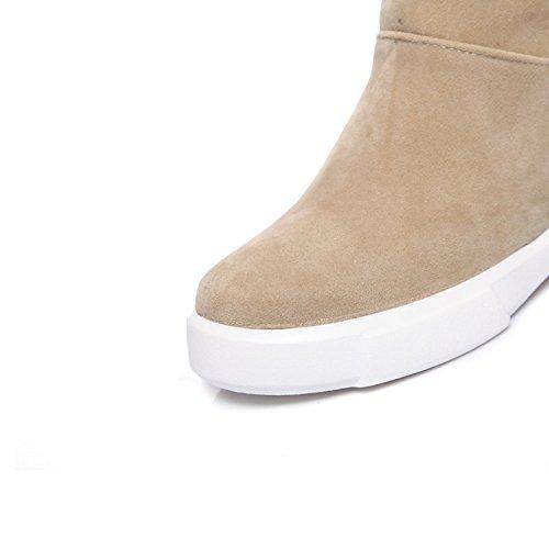 HSXZ Scarpe donna vello Autunno Inverno Equitazione moda Stivali Stivali Stivali Bootie Round Flat Toe stivaletti/stivaletti stivali Mid-Calf per Casual Green