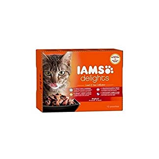 Iams Delights Land and Sea Collection in Jelly Cat Food 12 x 85g (1.02kg) 8