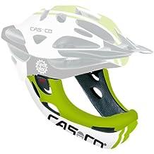 CasCo Mentón Viper Mx - Mentón de ciclismo unisex, color verde / color blanco mate