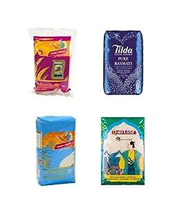 Pamai Pai® Reis Probierpaket: 4 x 1kg verschiedene Reissorten Basmati-...
