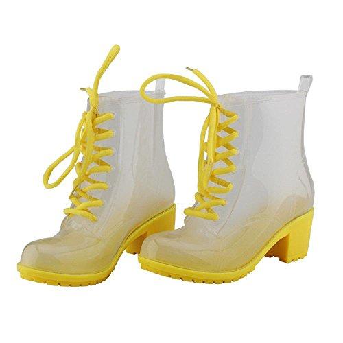 Moda Martin antiscivolo stivali da pioggia Yellow