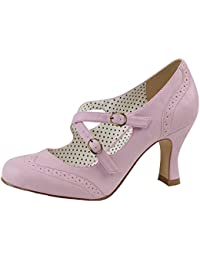 Pin Up Pumps, Damen, Rosa (rosa)