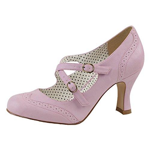 Heels-Perfect Pin Up Pumps, Damen, Rosa (Rosa), Größe 39