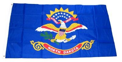 Fahne / Flagge USA North Dakota NEU 90 x 150 cm Flaggen