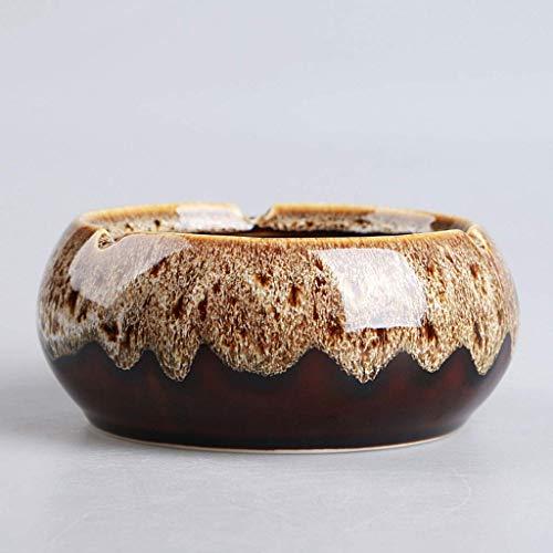 MWPO Aschenbecher Praktische Keramik Aschenbecher Kreative Persönlichkeit Geben Menschen Eine Große Größe Europäischen Retro Aschenbecher Nachahmung Achat Aschenbecher Blumentopf (Farbe: B) (Blumentopf Menschen)