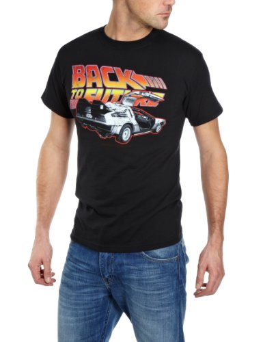 Back To The Future Logo and Delorean T-shirt for Men - S to XXL