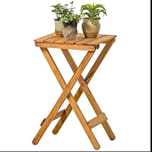 BinLZ-Table Massivholz Klapptisch Blumenständer Wohnzimmer Balkon Lounger Tisch Couchtisch Outdoor Kleiner Tisch, Holz -