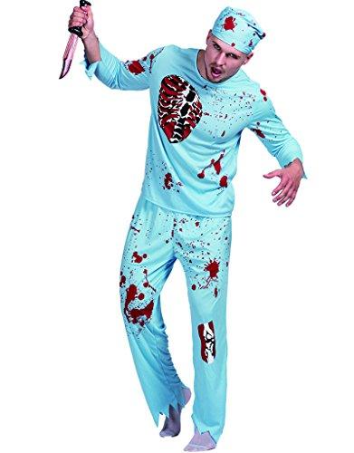 JANDZ Scary Halloween-Outfit: Erwachsene Zombie-Kostüme: Zombie-Ärzte und Zombie-Polizist.
