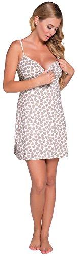 Italian Fashion IF Damen Stillnachthemd Amor 0113 Kakao