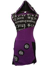 Shopoholic Fashion Mujer piexie Con Capucha Spiral asimétrica Estilo Hippy VESTIDO CON SPIRAL, Boho Hippy