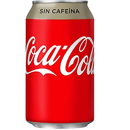 Coca Cola Sin Cafeina Refresco con gas de cola 330 ml Lata