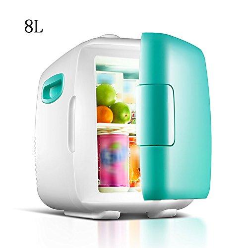 FJW Minikühlschrank Elektrischer Kühler Und Wärmer 8L Hohe Kapazität Kühlschrank Kühlschrank Wechselstrom/Gleichstrom Schnelle Kühlung Tragbar Thermoelektrisches System,Green8l