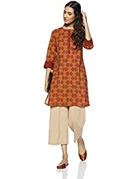 Amazon Brand - Myx Women's Straight Cotton Kurta