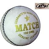 PSE Priya Sports Unisex Leather Cricket Ball White