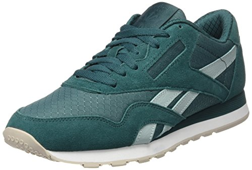 Reebok Cl Nylon Rs, Chaussures de sport homme Bleu (Washed Jade/Seaside Grey/White/Sand Stone)