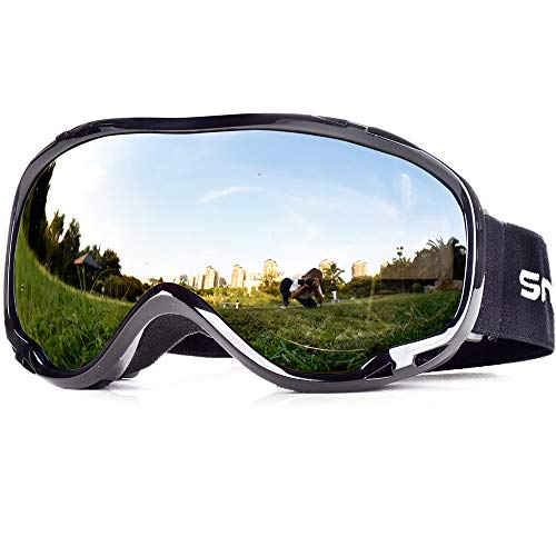 34b6af78384 Snowledge Ski Snowboard Goggles with UV400 Protection