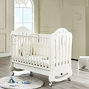 DUWEN Baby Cot Solid Wood European Style Multifunction Splicing Bed Game Bed Sofa Bed Children's Bed   1