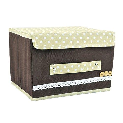Taiycyxgan Aufbewahrungsbox Aufbewahrungkästen für Kleidung, Kosmetika CD, Pullover in Verschiedne farbe Kaffee
