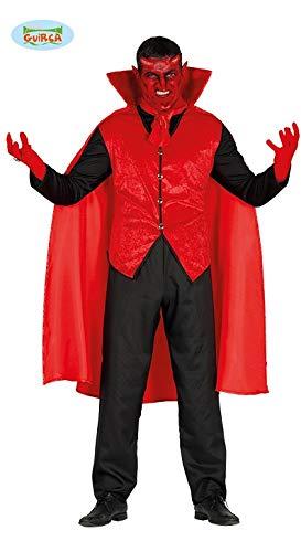 Elegantes Teufel Kostüm für Herren Anzug Weste Halloween Horror Party Gr. M, L, Größe:L (Eleganter Teufel Kostüm)