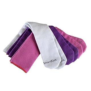 SmartKnit Kids Seamless AFO Interface Socks - 3 Pack -  Pink -