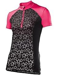 Crivit®–-Camiseta de ciclismo, TopCool Función fibra (Talla M 40–42Rosa/Negro)