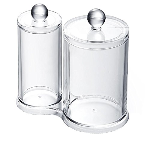 Vococal® Circulaire Coton Acrylique Transparent Boule Coton Ouatés Titulaire Maquillage Organisateur