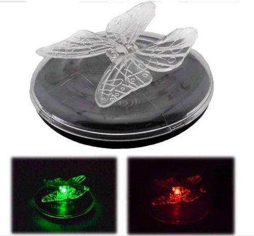 Papillon solaire flottante lampes LED changeant de couleur pour jardin/piscine/eau)