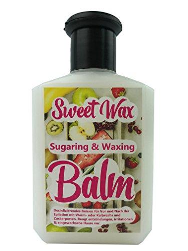 Sweet Wax after Sugaring & Waxing Balm - vermeidet Hautirritationen und eingewachsene Haare nach der enthaarung mit wachs und epilation Produkten - Inhalt: 100ml