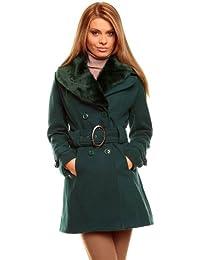 Schicker kurz Mantel mit Fellkragen in mehreren Farben (0600) SL