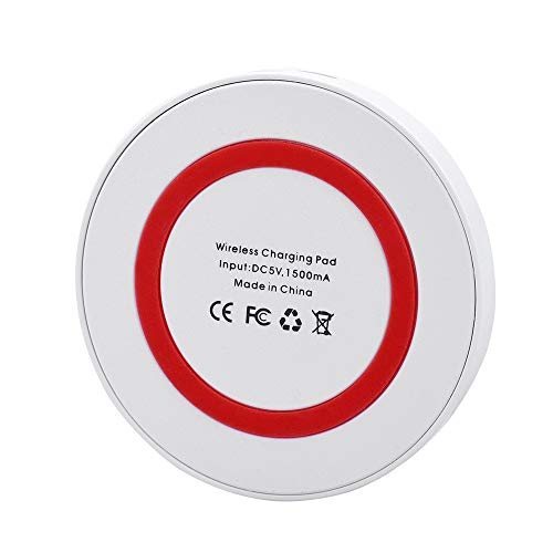 Preisvergleich Produktbild MMLC Fast Wireless Charger für iPhone XS / XS MAX / XR und alle Qi Fähige Geräte Drahtloses Ladegerät kabelloses Induktive Ladestation Schnellladestation (Red)