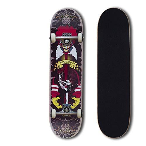 31 Zoll Skateboards Retro komplette Skateboards Profi Anfänger Extremsportarten Skateboards Kreuzer Longboard zum Teenager Anfänger Mädchen Jungs Kinder Erwachsene