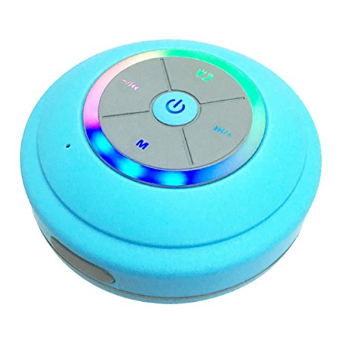 Bluetooth Lautsprecher Mini tragbare Stereo Bluetooth Lautsprecher Drahtlos Wireless Speaker mit Bass und Lichteffekt LED Beleuchtet Fernbedienung TF Card Steckdose AUX Microphone