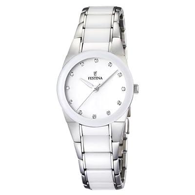 Reloj Festina F16534/3 de pulsera para mujer (mecanismo de cuarzo, esfera blanca y correa de acero inoxidable multicolor) de Festina