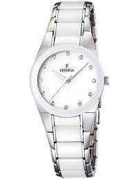 Festina Damen-Armbanduhr XS Trend Ceramic Analog Quarz verschiedene Materialien F16534/3