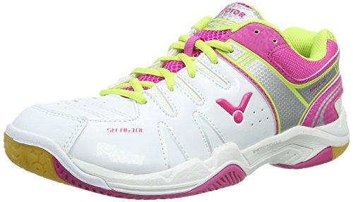 Victor SH-A610L, Unisex-Erwachsene Badmintonschuhe, Pink (Pink), 36 EU (4 Erwachsene UK)
