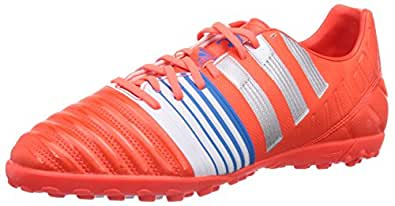 adidas Nitrocharge 3 0 Tf, Chaussures de football homme - Rouge (Infrared/Metallic Silver/Running White), 43 1/3 EU