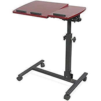 yaheetech notebooktisch laptoptisch auf rollen laptop. Black Bedroom Furniture Sets. Home Design Ideas
