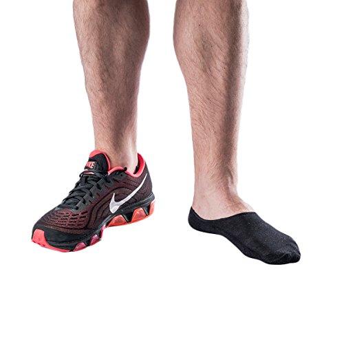 STOMPER JOE - 3 x Sportliche Bambus Herren Fitness Socken - Tief Geschnitten - Unsichtbare - Füßlinge - Anti-Geruch - Rutschfest - Sport und Bewegung Kompressionssocken