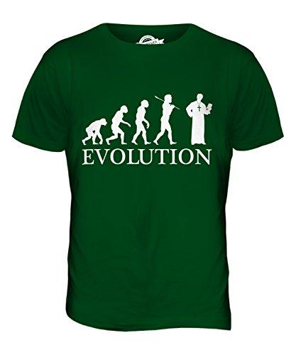 CandyMix Vikar Pfarrer Evolution Des Menschen Herren T Shirt Flaschengrün