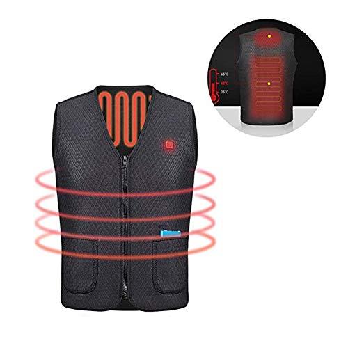 OUTANY USB wiederaufladbarer elektrischer Körper warme Weste, beheizte Kleidung, Temperatur einstellbar, waschbar,M | 01035685239734