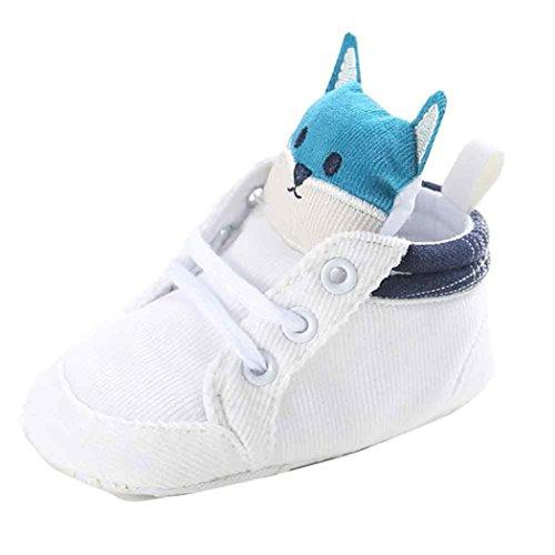 Reasoncool Baby Girl ragazzi Fox High Cut Shoes Sneaker antiscivolo morbida Sole Bambino Bianco