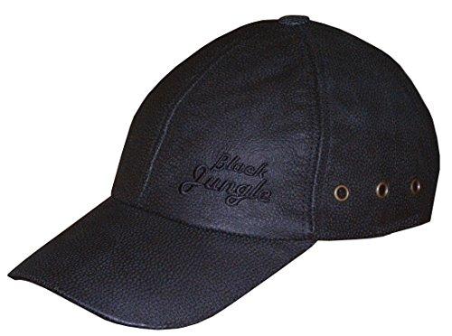 0d7e612e88c5 Black Jungle Lederkappe schwarz - Biker Leather Cap. Infos zu den  Nutzungsrechten. Bezeichnung, Roffatide Herren PU Leder Baseballmütze  Schirmmütze Kappe ...