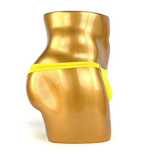 XinGe Herren Bikini Boxer Briefs G String Unterwäsche Shorts Free Size Yellow