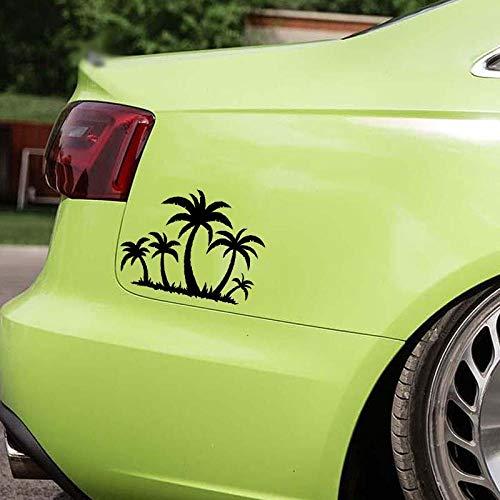 Stickerss Auto Tuning Aufkleber Aufkleber Fürs Auto Neue Welle Grünen Baum Grafik Vinyl Transparent Fensteraufkleber 18,2X13,5 cm 2Pcs - Jungen Neue Wellen