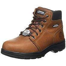 Skechers WORKSHIRE, Men's Workshire, Brown (Brown Embossed Leather Brn), 9 UK (43 EU)