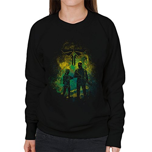 The Last Of Us Joel And Ellie Outline Women's Sweatshirt (Us Of Clicker The Last)