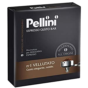 Pellini Caffè, Espresso Gusto Bar Caffè Macinato per Macchina Espresso No. 1 Vellutato - Confezione da 2 x 250 gr (500…