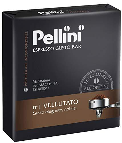 Pellini Caffè, Espresso Gusto Bar Caffè Macinato per Macchina Espresso No. 1 Vellutato - Confezione da 2 x 250 gr...