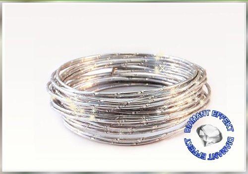 Aluminiumdraht Aludraht 2mm x 5 Meter SILBER DIAMANT-LOOK